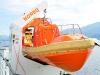 Rettungboot auf einer Fähre