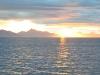 der Himmel glühte über den Lofoten