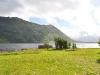 Grün, Wasser, Berge ... Ausblick von meiner Hütte aus