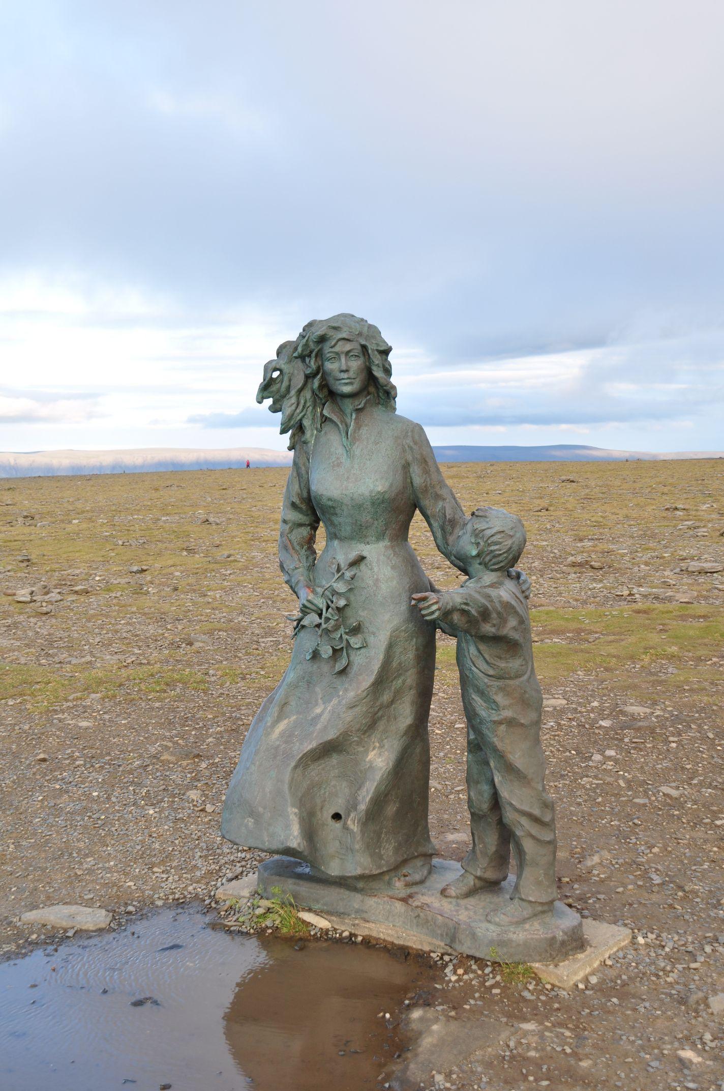 Skulptur am Nordkap