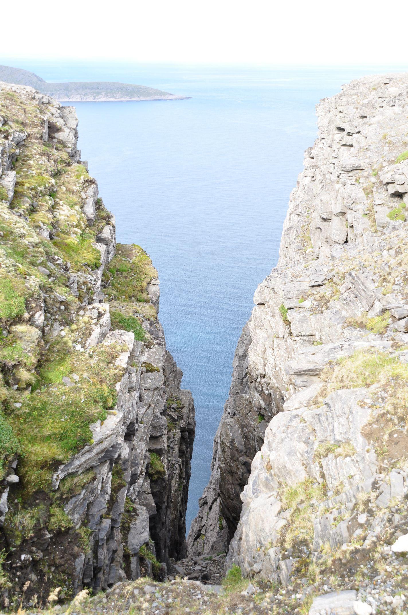Felsspalte am Nordkap