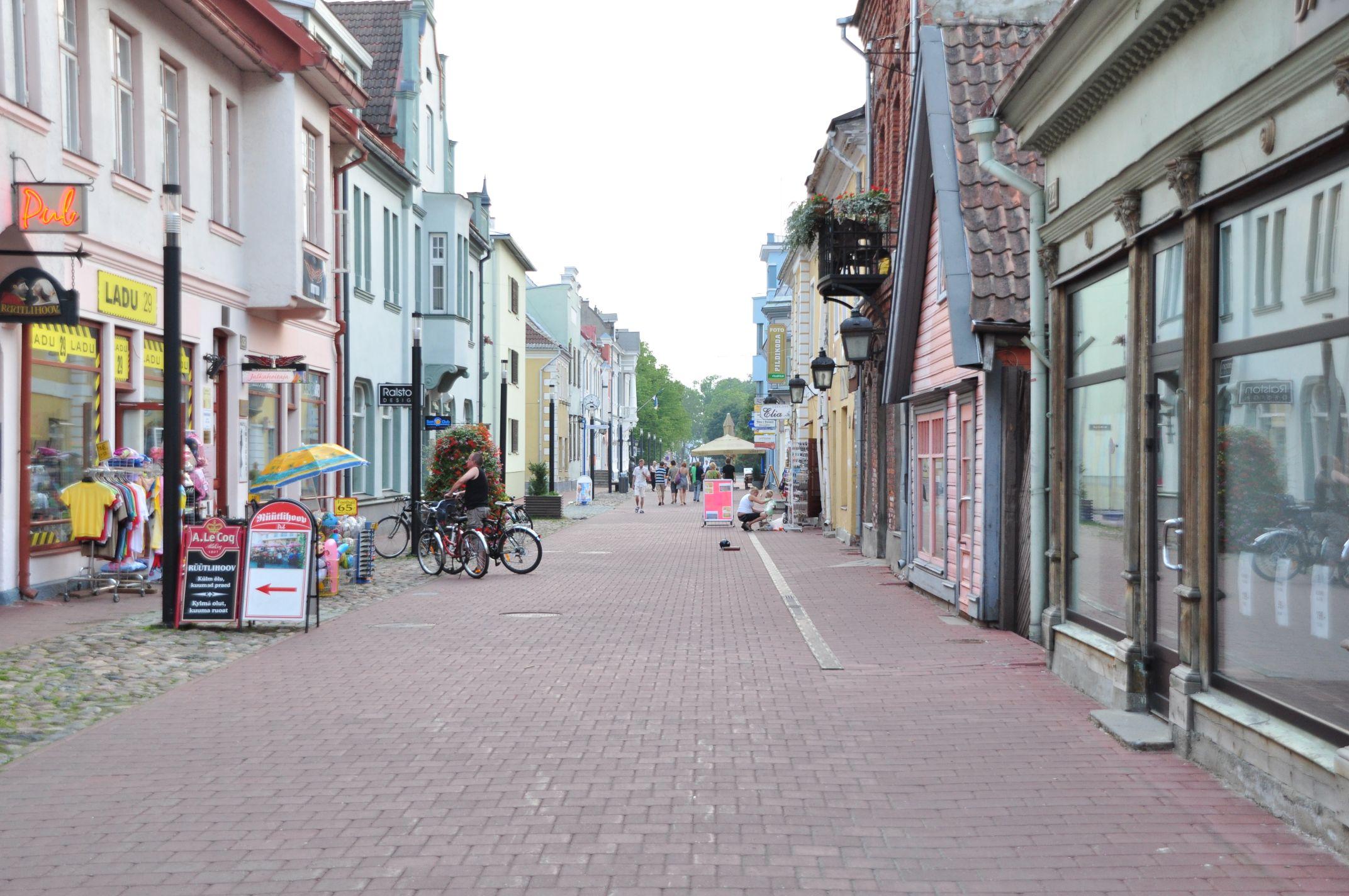 Fußgängerzone in Pärnu