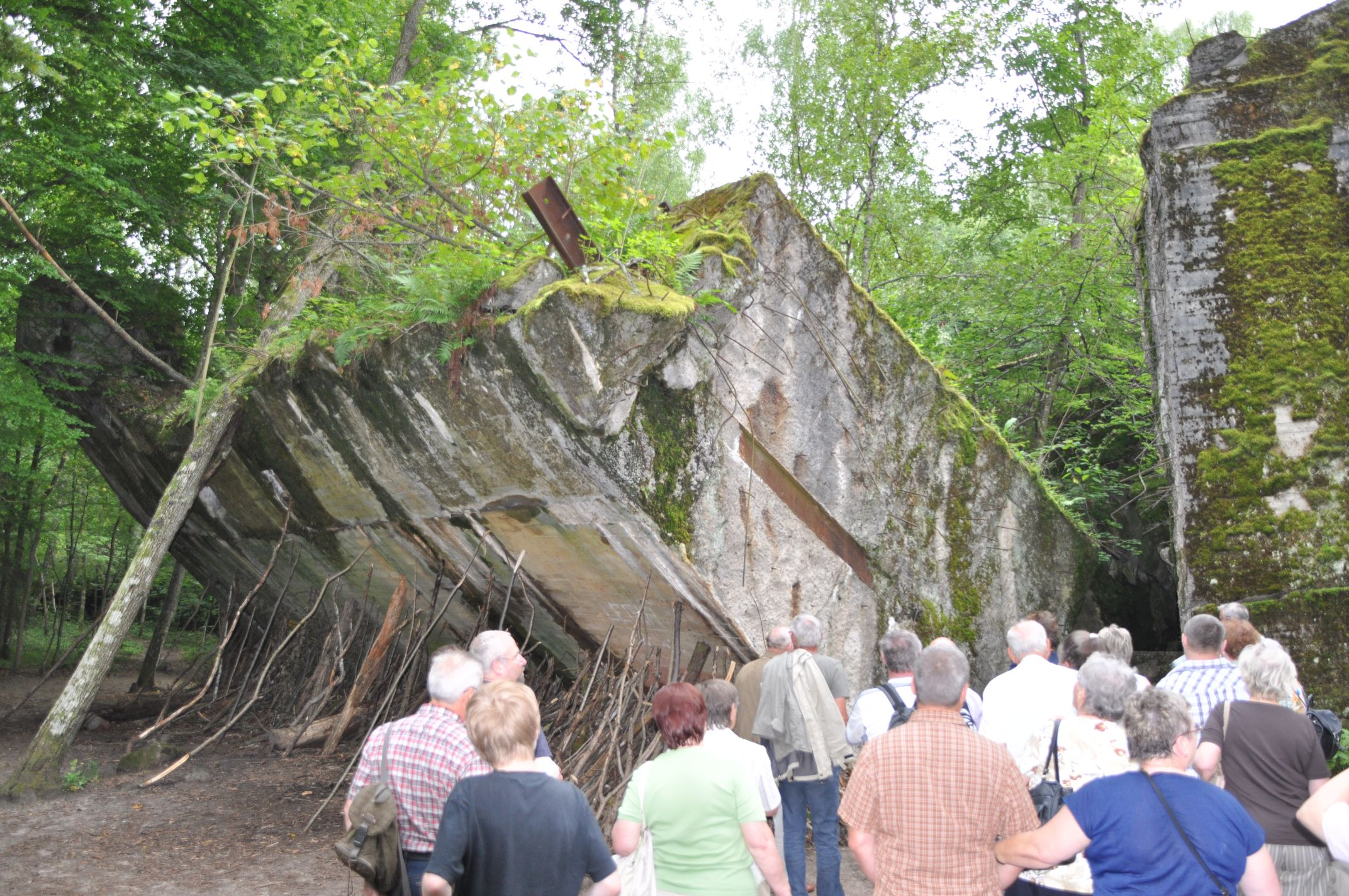 meterdicke Bunkerwände
