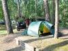 Campen direkt im Wald