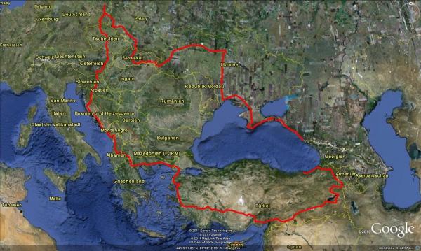 Grobentwurf der Abenteuerroute 2011
