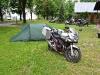 am Morgen auf dem Campingplatz nahe Nysa