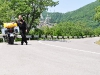 Fahrt zu einer Kirche in den Bergen der Krim