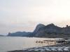der Strand in Sudak auf der Krim