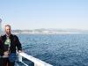 ich auf der Fähre bei der Ankunft in Trabzon