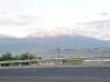 der Ararat von der Straße aus
