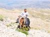 Reiter auf einem Esel
