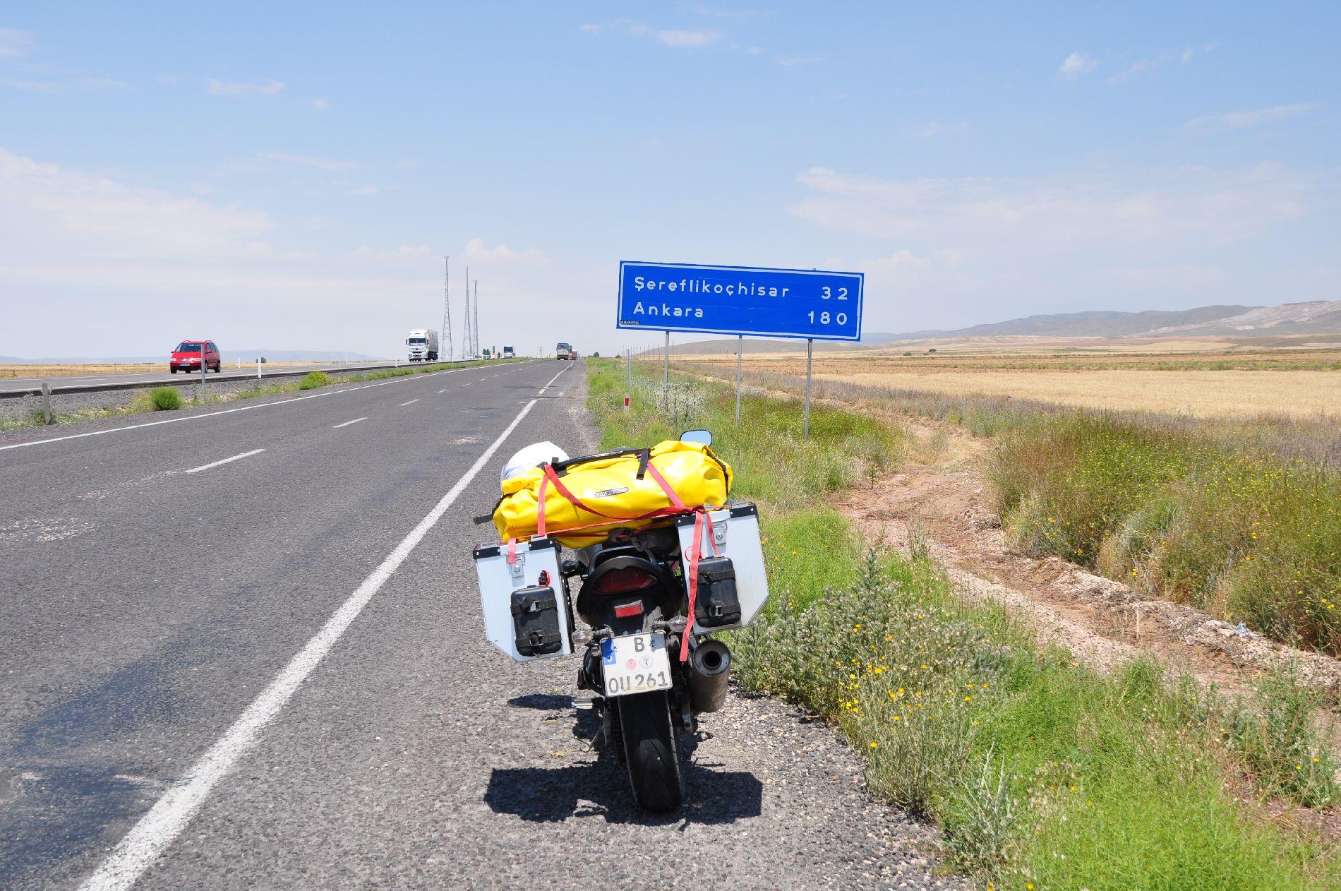auf dem Weg nach Istanbul ging es durch Ankara