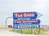 der riesige Salzsee Tuz südlich von Ankara